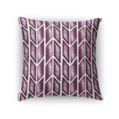 Arrows Throw Pillow Size: 16 H x 16 W x 5 D, Color: Maroon