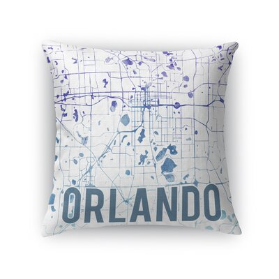 Orlando Sunset Front Throw Pillow Size: 18 H x 18 W x 5 D, Color: Purple