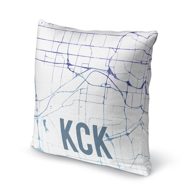Kck Sunset Front Accent Pillow Size: 18 H x 18 W x 5 D, Color: Purple/ Blue/ White
