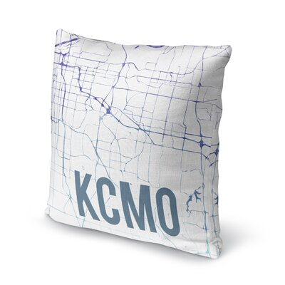 Kcmo Sunset Front Accent Pillow Size: 18 H x 18 W x 5 D, Color: Blue/ Purple/ White