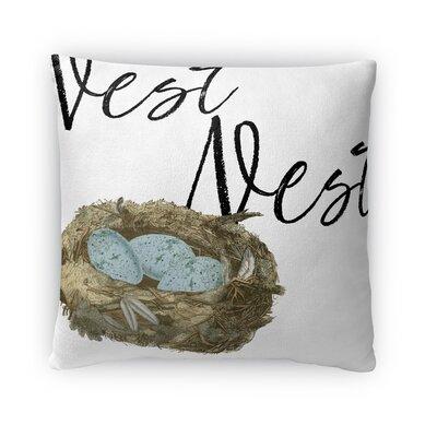 Nest Nest Throw Pillow Size: 16 H x 16 W x 4 D