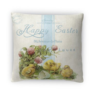 Chics with Broken Egg Throw Pillow Size: 16 H x 16 W x 4 D