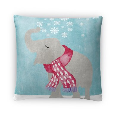 Snow Elephant Throw Pillow Size: 16 H x 16 W x 4 D