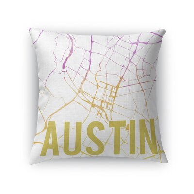 Austin Sunset Front Throw Pillow Color: Pink, Size: 18 H x 18 W x 5 D