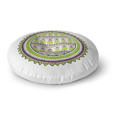 Tribal Tango Round Floor Pillow Size: 23 H x 23 W x 9.5 D, Color: Lime
