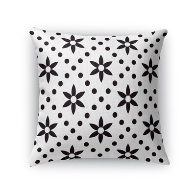 Flowers with Dots Throw Pillow Size: 24 H x 24 W x 5 D