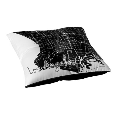 Los Angeles Floor Pillow Size: 26 H x 26 W x 12.5 D