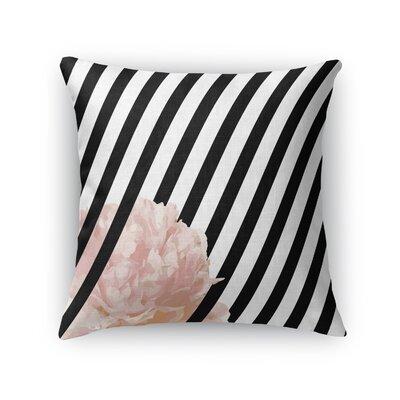 Peony Stripe Throw Pillow Size: 18 H x 18 W x 5 D