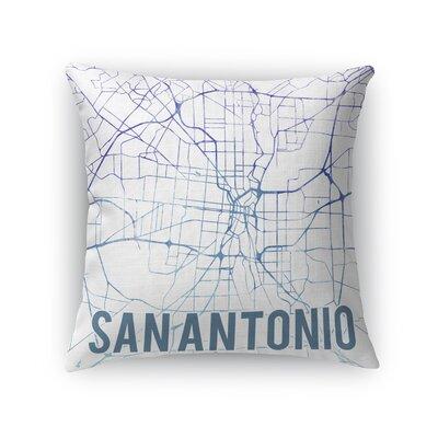 San Antonio Sunset Front Throw Pillow Size: 24 H x 24 W x 5 D, Color: Purple