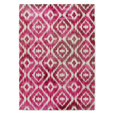Delores Pink Area Rug Rug Size: 2 x 3