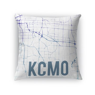 Kcmo Sunset Front Throw Pillow Size: 16 H x 16 W x 5 D, Color: Purple