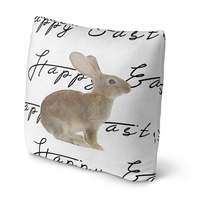 The Brown Easter Bunny Throw Pillow Size: 16 H x 16 W x 4 D