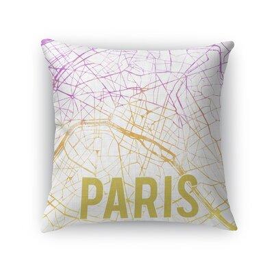 Paris Sunset Front Throw Pillow Color: Pink, Size: 18 H x 18 W x 5 D