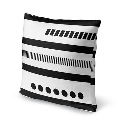 Geotribal Accent Pillow Size: 18 H x 18 W x 5 D, Color: Black/ White