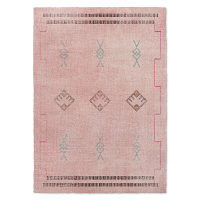 Pernille Pink/Blue Area Rug Rug Size: 5 x 7