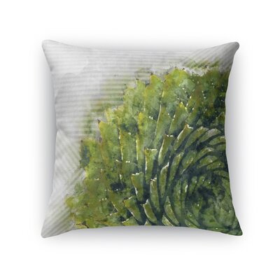 Watercolor Aloe Throw Pillow Size: 24 H x 24 W x 5 D