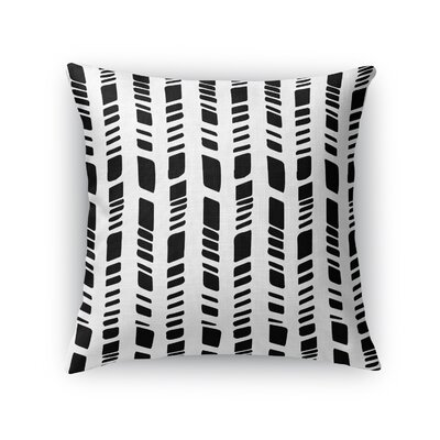 Baby Tribal Throw Pillow Size: 18 H x 18 W x 5 D, Color: White