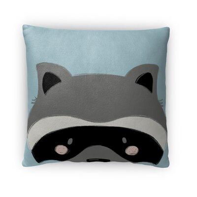 Raccoon Throw Pillow Size: 18 H x 18 W x 4 D