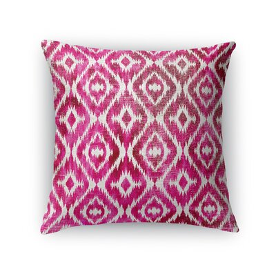 Delores Throw Pillow Size: 24 H x 24 W x 5 D, Color: Pink