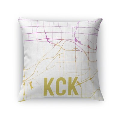 Kck Sunset Front Throw Pillow Size: 16 H x 16 W x 5 D, Color: Pink