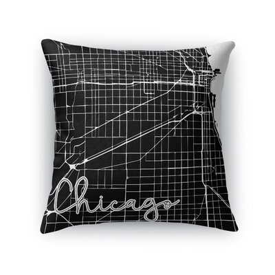 Chicago Throw Pillow Size: 24 H x 24 W x 5 D