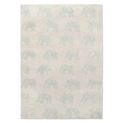 Netea Blue/Ivory Area Rug Rug Size: 5 x 7