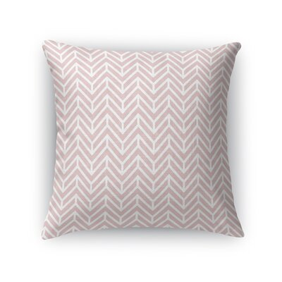 Chevron Throw Pillow Size: 18 H x 18 W x 5 D, Color: Rose