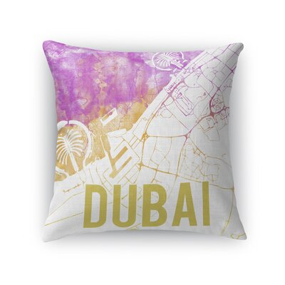Dubai Sunset Front Throw Pillow Color: Pink, Size: 24 H x 24 W x 5 D