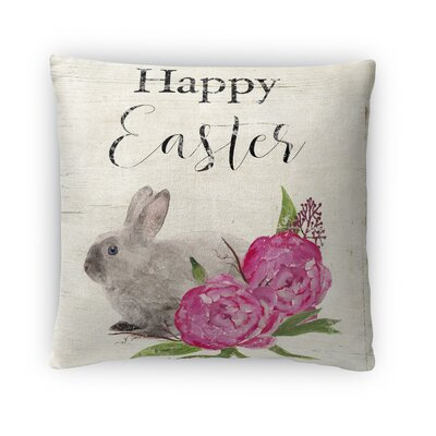 Little Easter Bunny Throw Pillow Size: 16 H x 16 W x 4 D