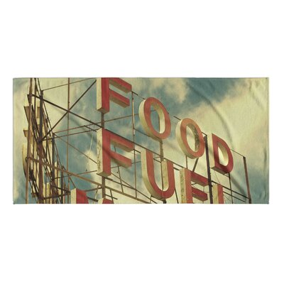 Food Fuel Motel Beach Towel