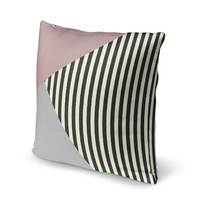 Layered Stripe Accent Pillow Size: 16 H x 16 W x 5 D