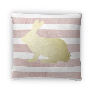 Bunny Throw Pillow Size: 16 H x 16 W x 4 D