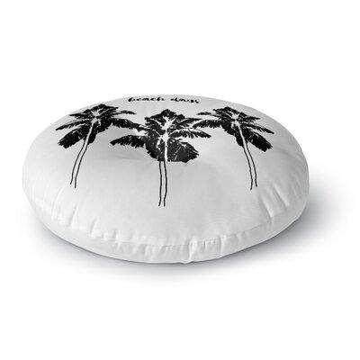 Beach Days Round Floor Pillow Size: 23 H x 23 W x 9.5 D