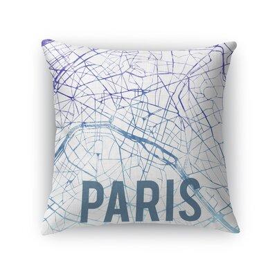Paris Sunset Front Throw Pillow Size: 16 H x 16 W x 5 D, Color: Purple