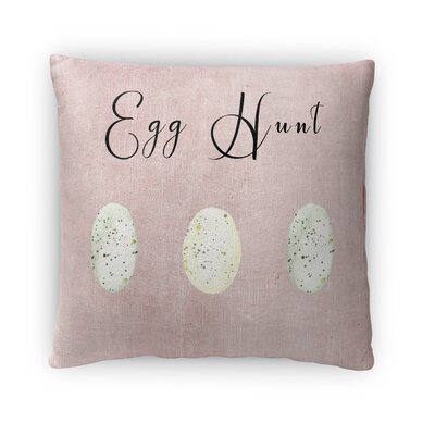 Egg Hunt Throw Pillow Size: 16 H x 16 W x 4 D, Color: Pink