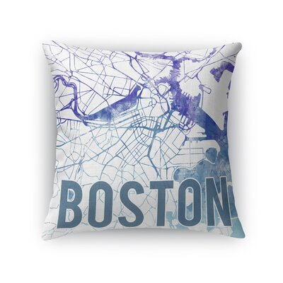 Boston Sunset Front Throw Pillow Size: 24 H x 24 W x 5 D, Color: Purple