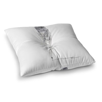 Feather Love Floor Pillow Size: 23 H x 23 W x 9.5 D