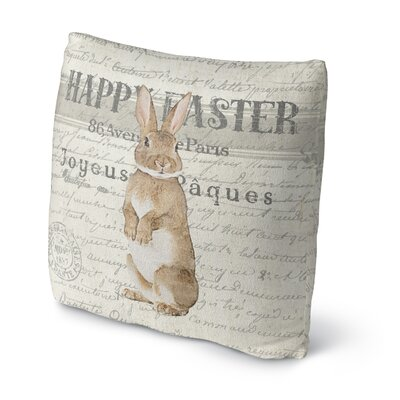 Happy Easter Throw Pillow Size: 16