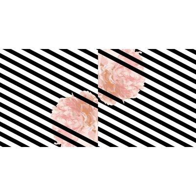 Peony Stripe Floor Pillow Size: 26 H x 26 W x 12.5 D