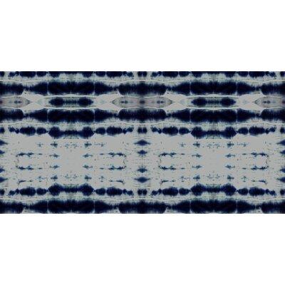 Shibori Stripe Round Floor Pillow Size: 23 H x 23 W x 9.5 D