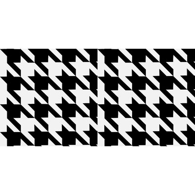 Houndstooth Floor Pillow Size: 23 H x 23 W x 9.5 D