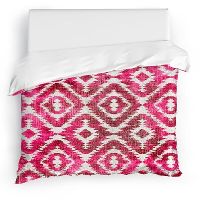 Delores Duvet Cover Size: Full/Queen, Color: Pink