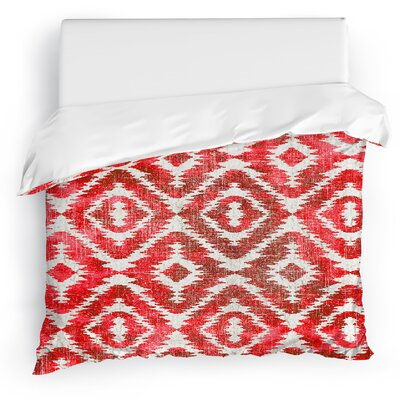 Delores Duvet Cover Size: King, Color: Warm Pink