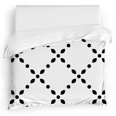 Spot Diamond Duvet Cover Size: King