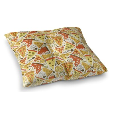 Pizza Pies Square Floor Pillow Size: 23 H x 23 W x 9.5 D