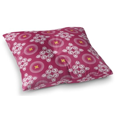 Scrolled Floral Square Floor Pillow Size: 26 H x 26 W x 12.5 D