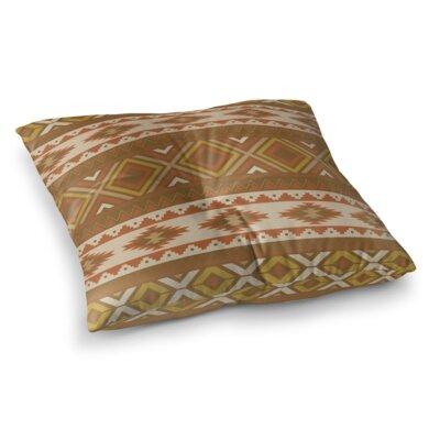 Sedona Square Floor Pillow Color: Orange, Size: 26 H x 26 W x 12.5 D