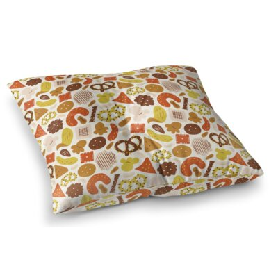 Snack Time Square Floor Pillow Size: 23 H x 23 W x 9.5 D