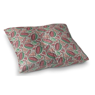 Watermelon Square Floor Pillow Size: 23 H x 23 W x 9.5 D