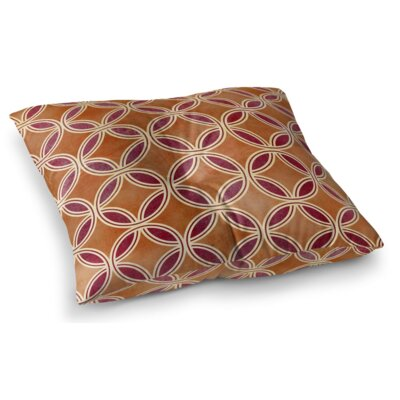 Geo Circles Square Floor Pillow Size: 23 H x 23 W x 9.5 D